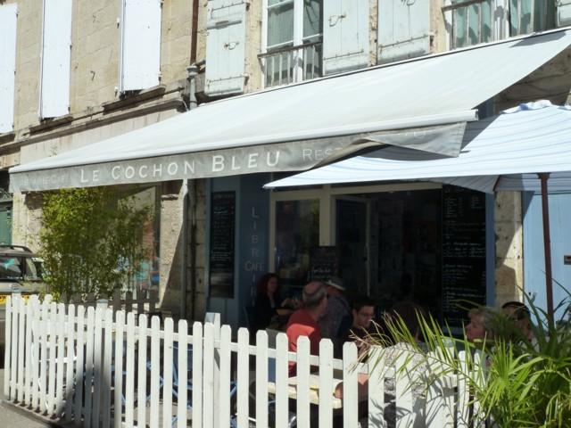 Le Cochon bleu, librairie-restaurant