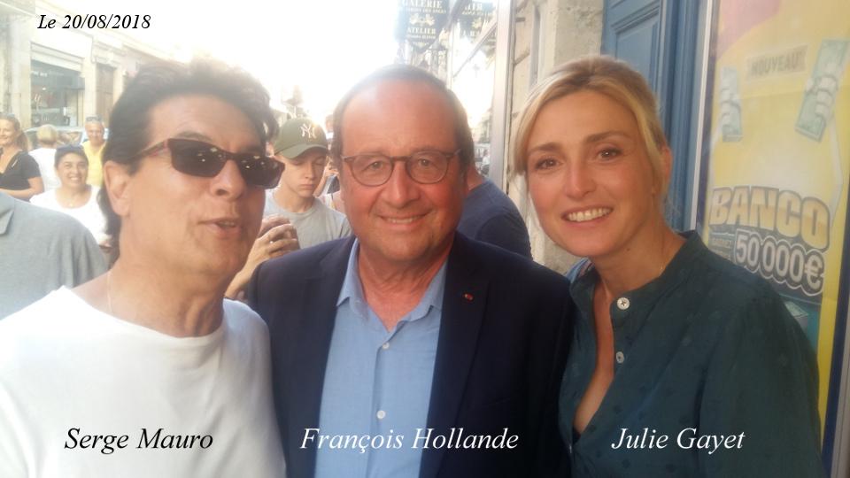 François Hollande - Julie Gayet - Serge Mauro - Lectoure -Gers
